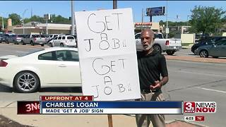 'Get a Job' sign sparks controversy 6p.m. - Video