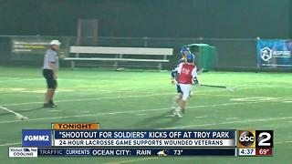 Lacrosse fundraiser for wounded vets starts Tuesday night - Video