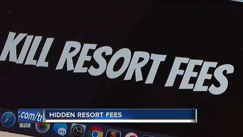 Hidden resort fees can build up on a hotel bill