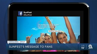 Unable to open, SunFest sends fans an inspirational message