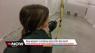 Women's archery class in Detroit - Video