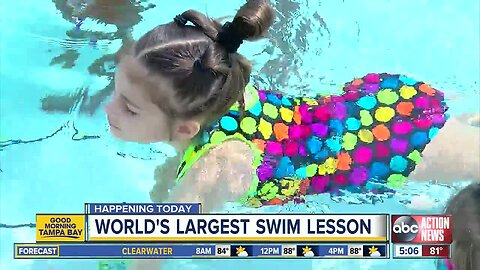 Free learn-to-swim lessons for kids on Thursday