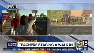 Teachers stage walk-ins around the Valley - Video
