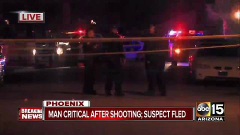 Man hospitalized after Phoenix shooting, suspect at large