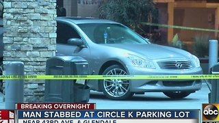 Stabbing at Circle K in Glendale leaves 1 in critical condition - Video