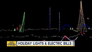 How much will your holiday lights cost you on your electric bill? - Video