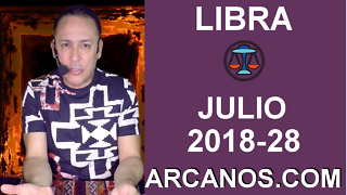 HOROSCOPO LIBRA-Semana 2018-28-Del 8 al 14 de julio de 2018-ARCANOS.COM - Video
