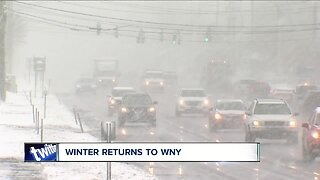 Winter returns and reminds WNY how challenging winter driving can be