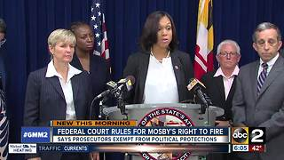 Court sides with Mosby in right to fire suit