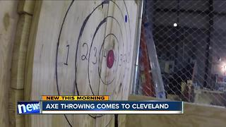 Axe throwing the latest craze to come to Cleveland - Video