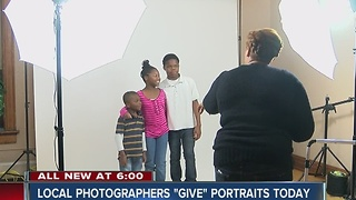 Local photographers 'give' portraits to people in need - Video