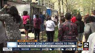 Food truck zone lawsuit heads to trial