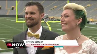 Danish couple gets married at Lambeau Field - Video