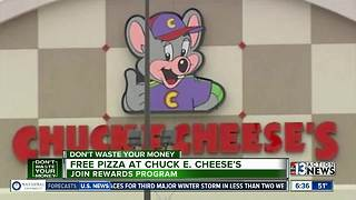 Chuck E. Cheese's offering free pizza - Video