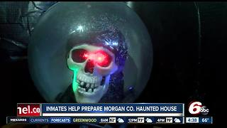 Morgan County Jail inmates help prepare county's haunted house - Video