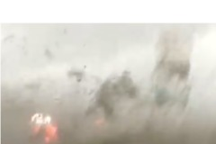Car Window Smashes as Woman Is Caught in Path of Quebec Tornado - Video