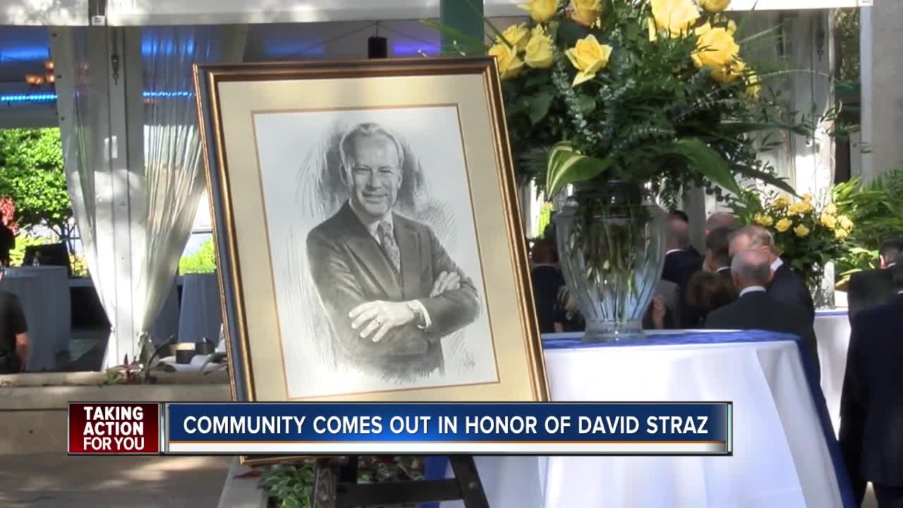 Community comes out in honor of David Straz