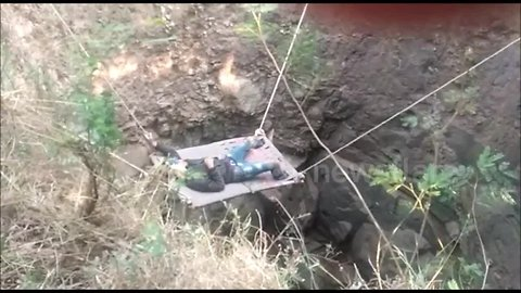 Unlucky thief has to be rescued after falling into Indian village well