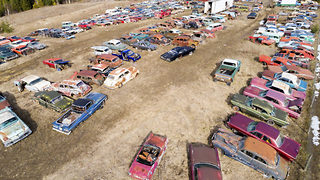Petrol head puts house on the market and throws in 340 vintage cars - Video