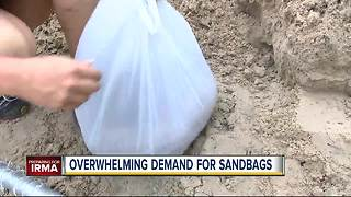 Overwhelming demand for sandbags - Video
