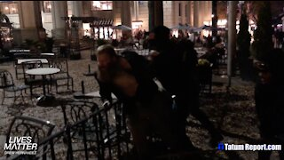 ANTIFA VIOLENTLY BEATS TRUMP SUPPORTER OVER THE HEAD