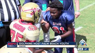 Miami Dolphins host Palm Beach Youth Football in Davie