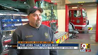 First responders spend Christmas working