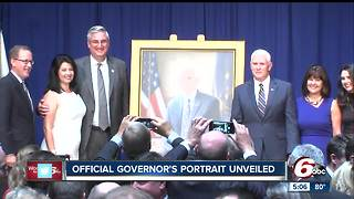 Vice President Mike Pence at the Statehouse for the official unveiling of the governor's portrait - Video