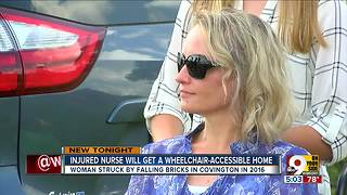 Injured nurse will get a wheelchair-accessible home - Video