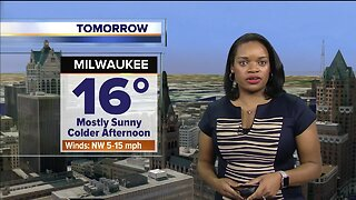 Mostly sunny on Thursday with a high of 16