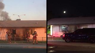Las Vegas home catches fire twice in days - Video