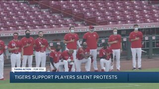 Tigers support players in silent protest