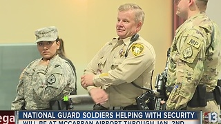 National Guard helping with New Year's Eve security at McCarran Airport