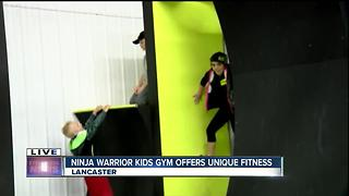 Ninja Warrior kids' gym opens in Lancaster - Video