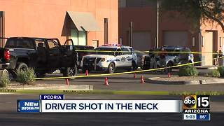 Driver arrested for shooting driver in neck in Phoenix - Video