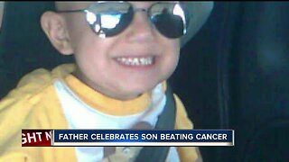 Father celebrates son beating cancer