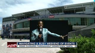 Navigating a busy weekend of events, road closures throughout Tampa