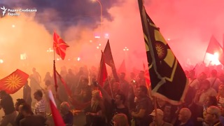 Protesters Against Macedonia's Name Change Clash With Riot Police