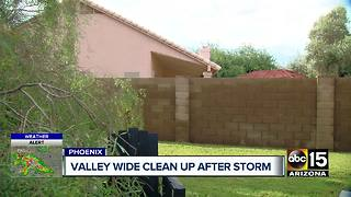 Valley-wide cleanup after Saturday morning storm - Video