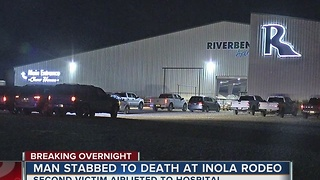 Man dead after being stabbed at Inola Rodeo - Video