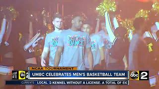 UMBC celebrates men's basketball team - Video