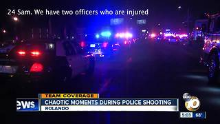 Chaotic moments during police shooting in Rolando - Video