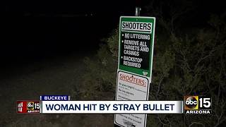 Woman hit by stray bullet in Buckeye - Video