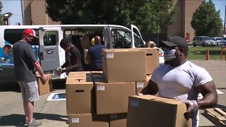 Cleveland Boys and Girls Club distributes food
