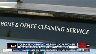 Local cleaning company offers free cleaning services to local women battling cancer - Video