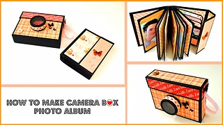DIY gift ideas for men: How to make a mini album - Video