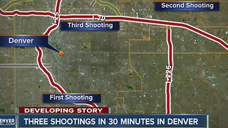 3 shootings in 30 minutes in Denver - Video