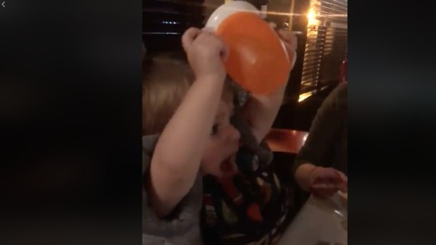 Adorable Baby Cheerfully Toasts Uncle For His New Job