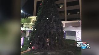 Mesa's $40,000 Christmas tree a 'total loss' after fire - Video