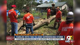 Families with Ohio ties endure Hurricane Harvey - Video